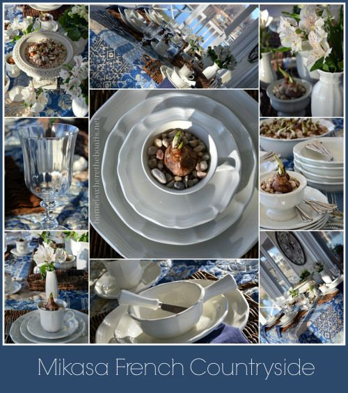 Beautiful Blues and White from Mary at HIWTBI ~ Mikasa French Countryside Dinnerware & Chasing Away The Winter Blues | French countryside Mikasa and ...