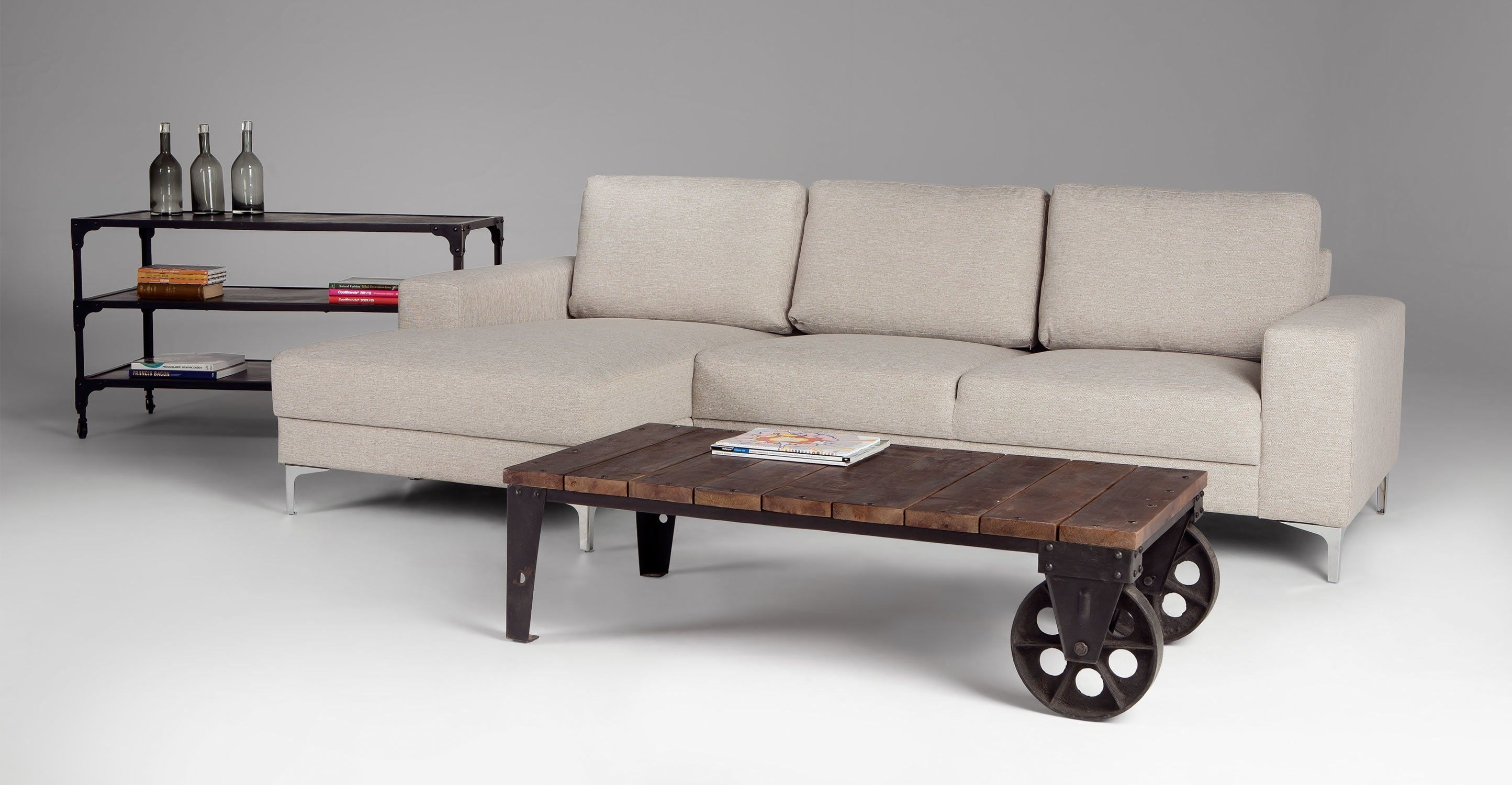 Superieur Small Industrial Style Coffee Table
