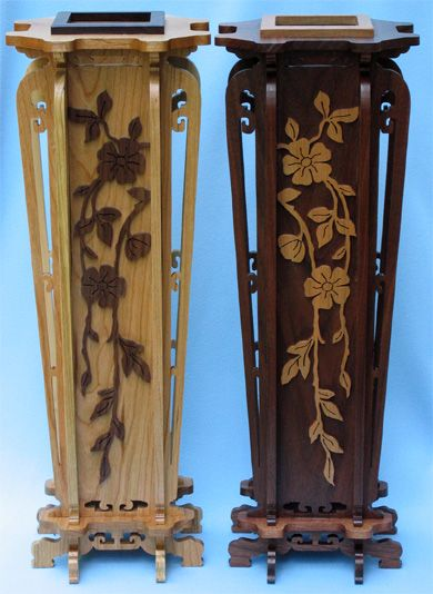 Japanese Vase Scroll Saw Fretwork Pattern Scroll Saw Vase