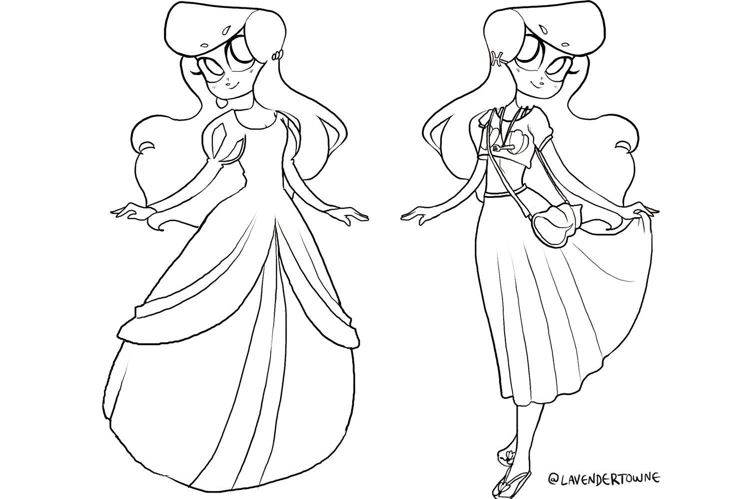 Ariel Modern Coloring Page | Pinterest | Modern colors, Ariel and ...