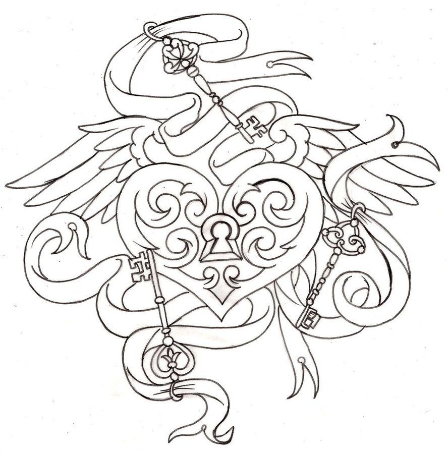 Tattoo designs coloring book - Heart Tattoo 6 By Metacharis On Deviantart