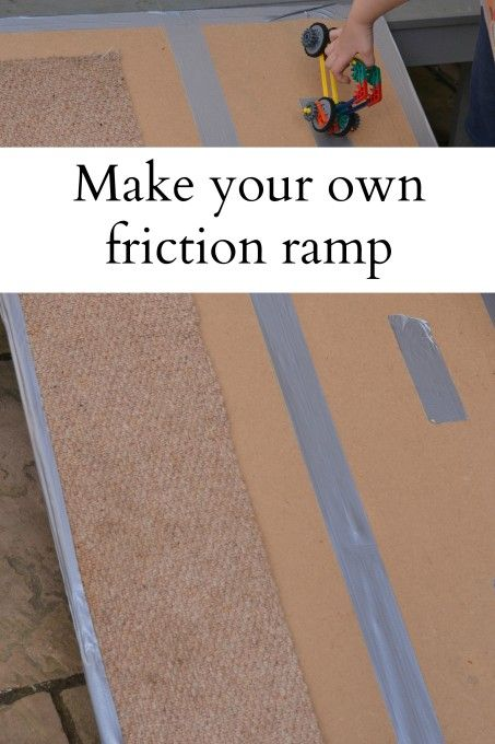 make your own friction ramp science in ece preschool science science standards. Black Bedroom Furniture Sets. Home Design Ideas
