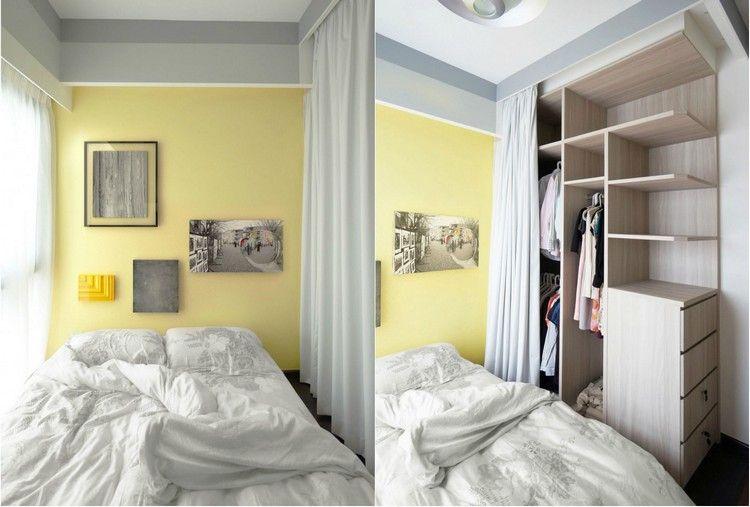 Gelbe Wandfarbe Im Kleinen Schlafzimmer | Mobilă | Pinterest Schlafzimmer Gestalten Gelb