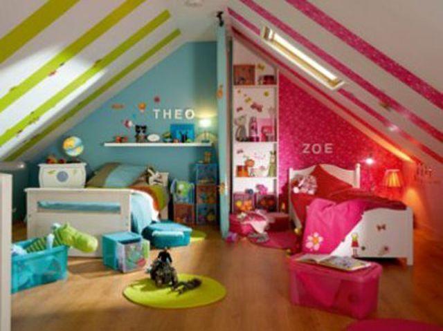 deux enfants une chambre huit solutions pour partager lespace - Grande Chambre Fille
