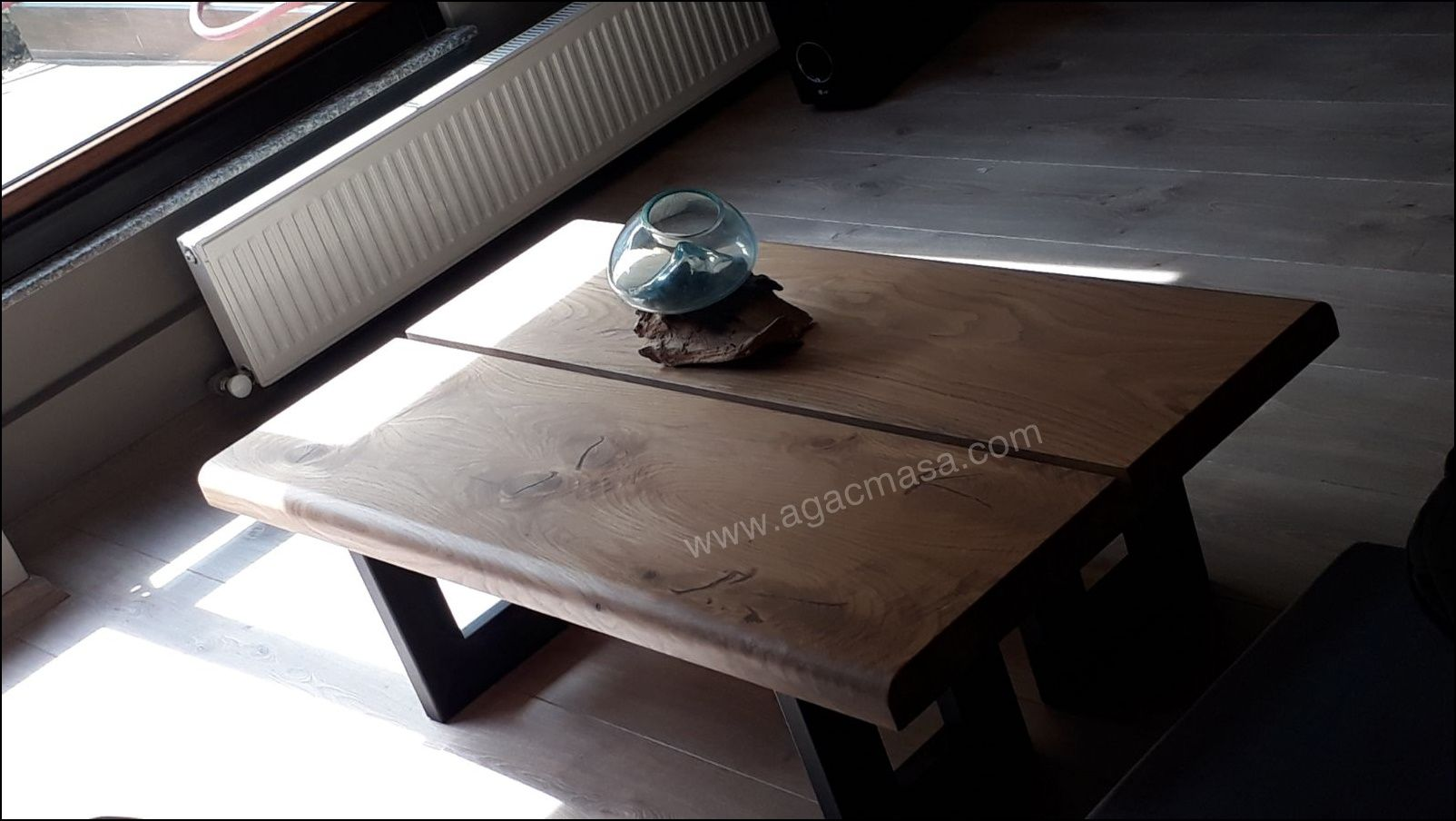 kestane masif ahsap orta sehpa uygulamamiz chestnut massive wood coffee table mobilya tasarim ahsap masa