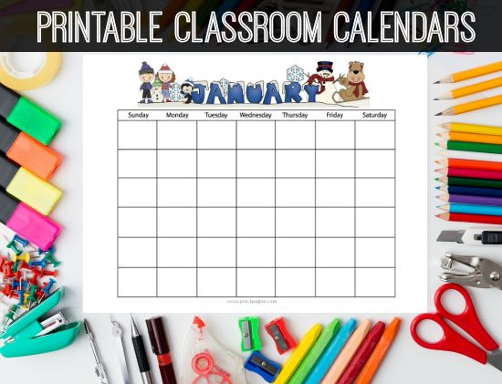 Classroom Calendars | Blog - Pre-K Pages | Preschool calendar ...