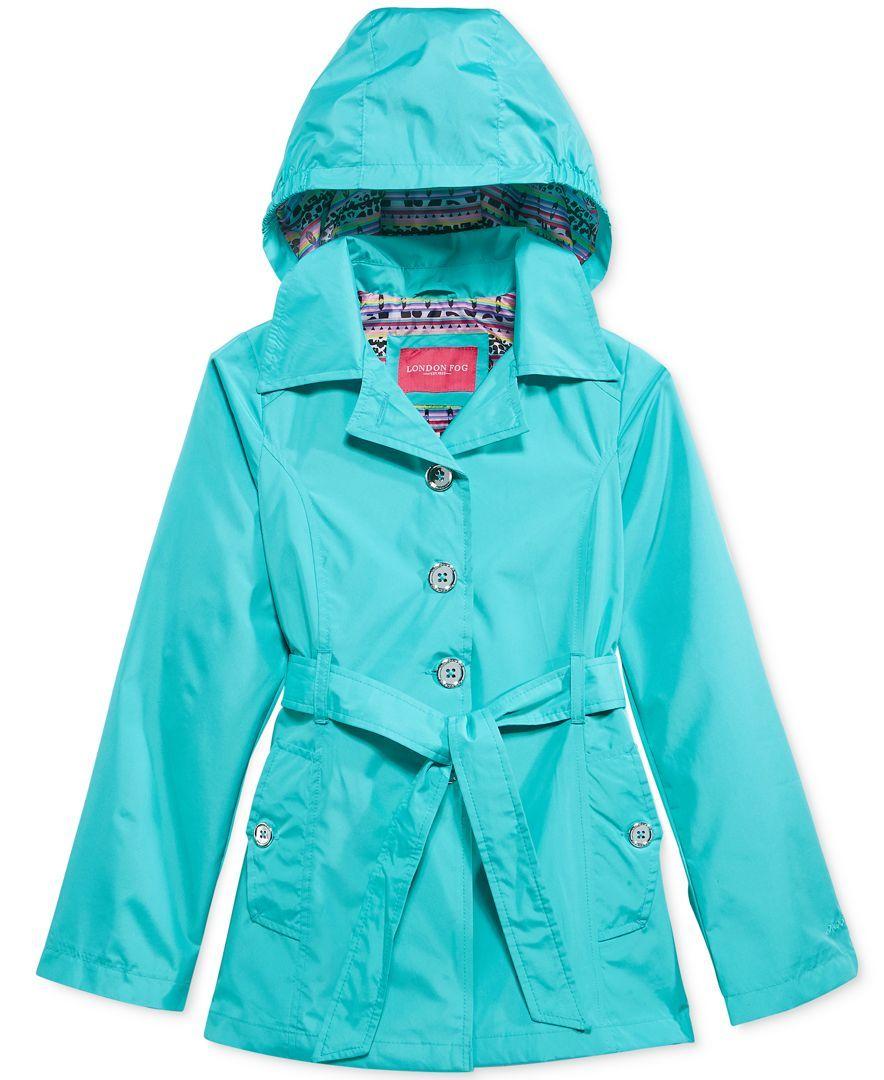 London Fog Girls' Tie-Front Rain Jacket | Products | Kids