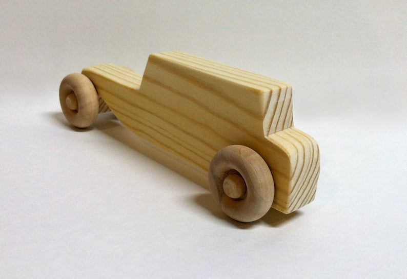 Wooden Toy Car – Classic Old-Fashioned Roadster- Handmade Gift for Children- Reclaimed Wood – All Natural Kids Toy for Boys and Girls-Easter