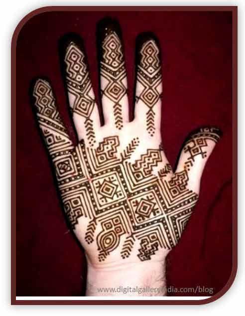 Gents Hand Mehndi Design