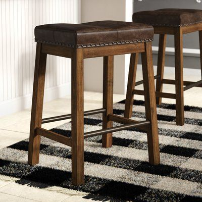Gracie Oaks Baulch 25 Bar Stool Set Of 2 Bar Stools Kitchen Island Counter Stools Leather Counter Stools