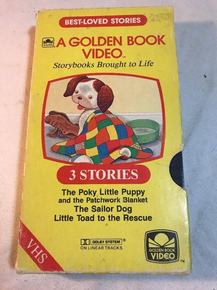 A golden book video vhs 3 stories the poky little