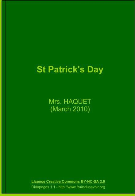 St Patrick's Interactive Book