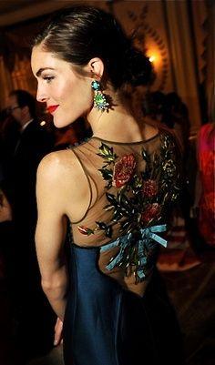 Hilary Rhoda wears Dannijo Pietra earrings @Eclektica Salon.com