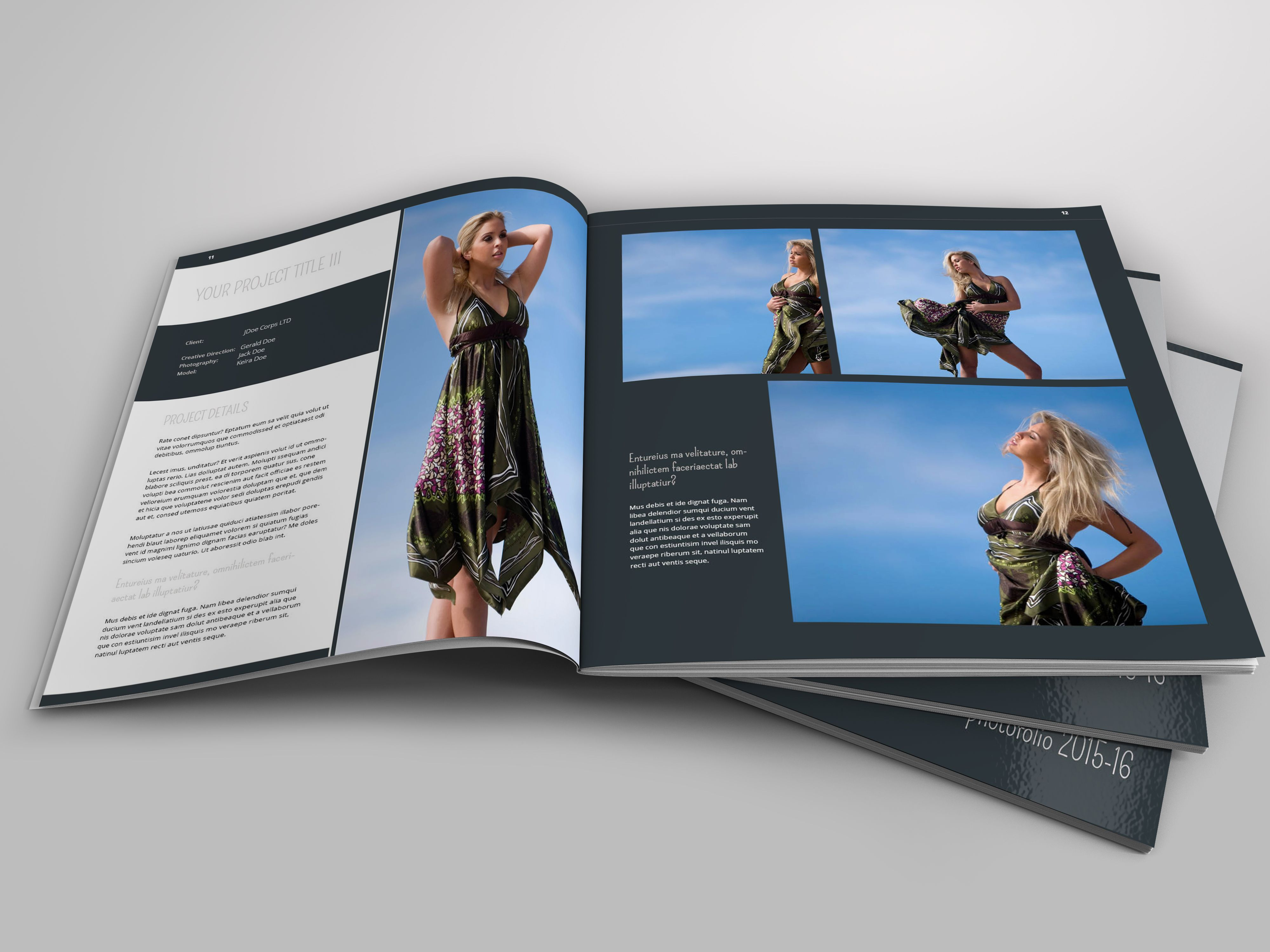 Portfolio Book Template for Indesign CS4 or Later | Design Haven ...