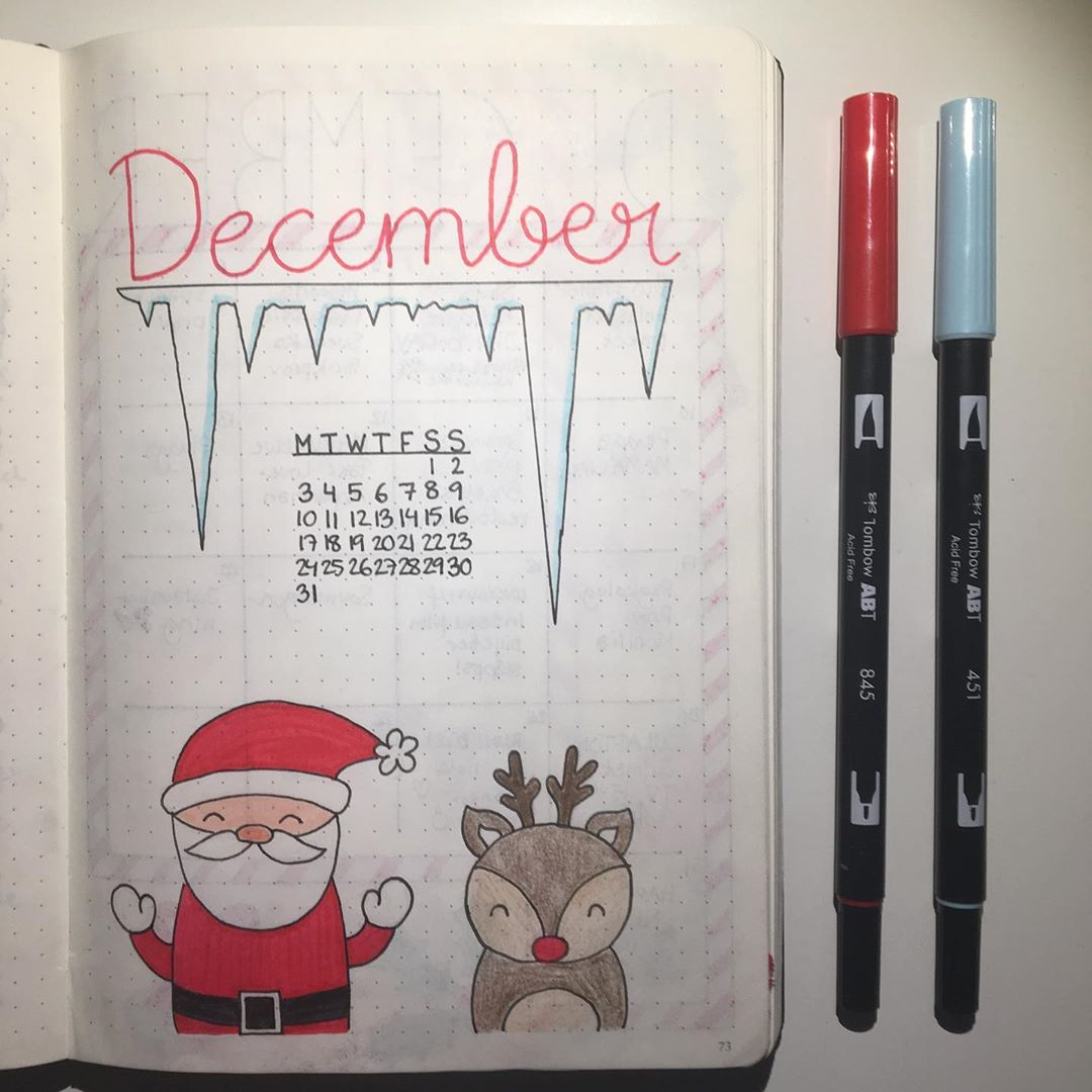 49 Stunning December Inspired Bullet Journal Spreads + December Plan with me Video! | My Inner Creative