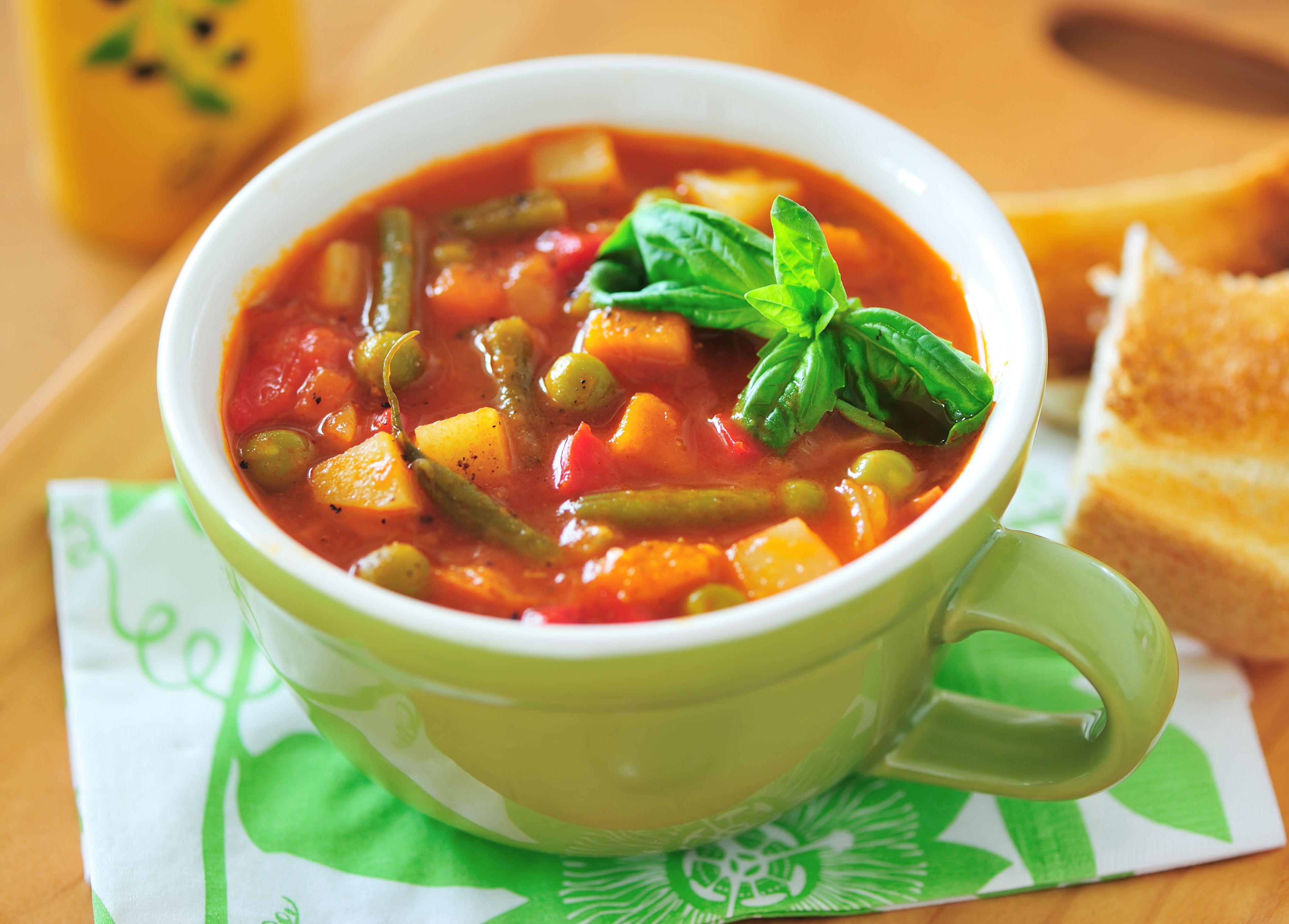 Recipe Italian Vegetable Soup Tomato Broth Cabbage And Italian