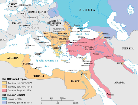 What does the map tell us about the history of the Ottoman Empire ...