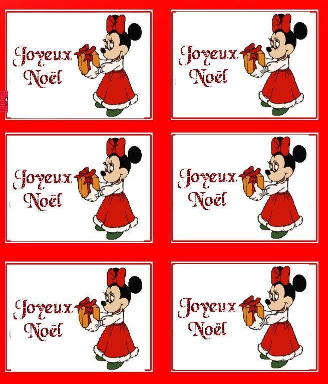 ETIQUETTE/cadeau/noel/papa/père/joyeux/minnie/disney/bloom/winx