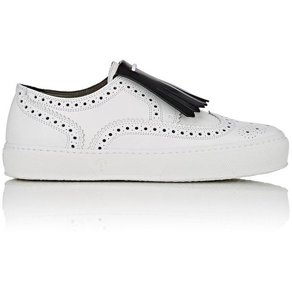 Robert Clergerie Women's Tolka02 Sneakers (8,585 MXN) ❤ liked on Polyvore featuring shoes, sneakers, white, leather lace up shoes, low top, white low top sneakers, white lace up shoes and lace up sneakers