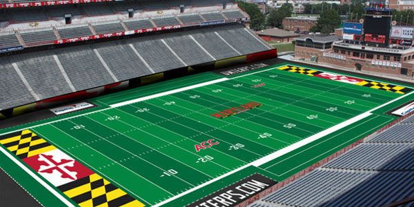 The University Of Maryland Football Field Will Be Green After All See What New Technology Their Using For The Tu Football Stadiums Ohio State Football Stadium
