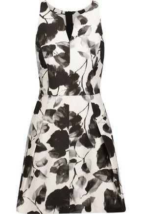 Milly Woman Floral-print Cotton-blend Faille Mini Dress Black Size 4 Milly Cheap Sale Marketable Super Fake Cheap Online Fake For Sale Hot Sale For Sale VL5ps6Dx