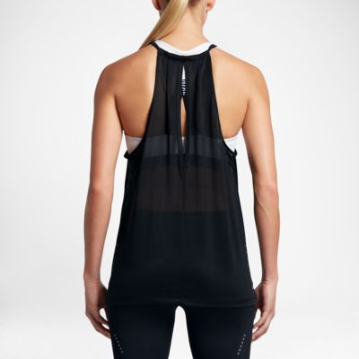 Nike Breathe Women's Running Tank Tops Black