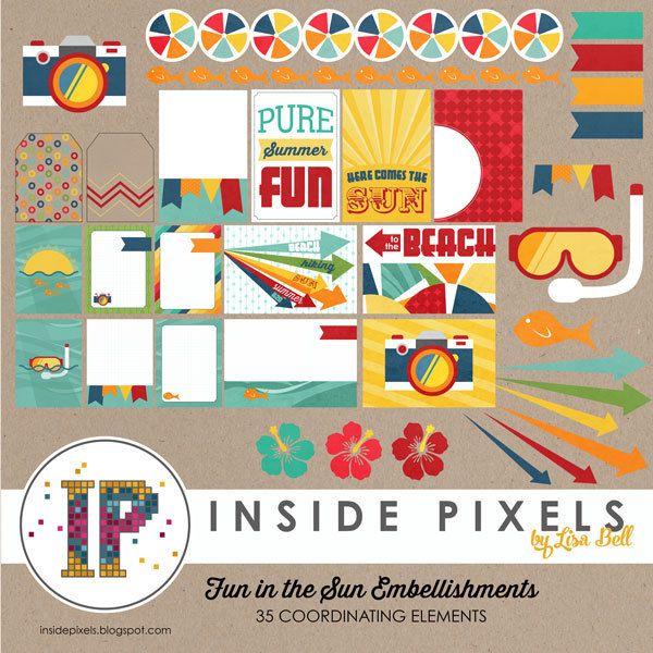 Fun in the Sun Embellishments - www.insidepixels.com