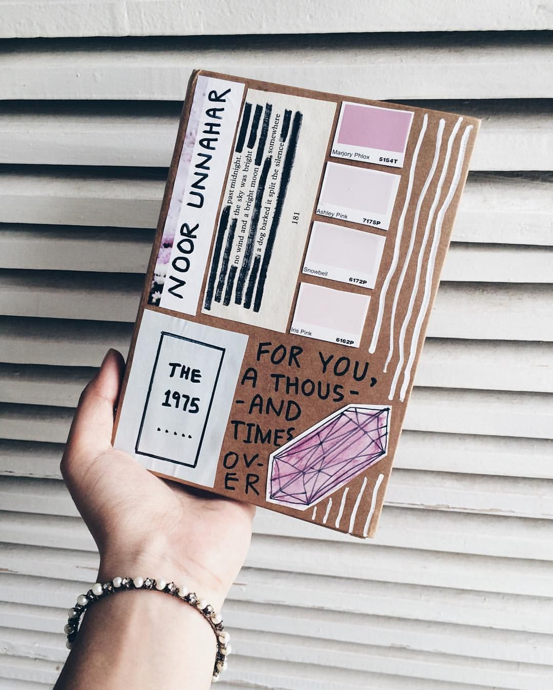 Art journal cover pastel aesthetics creative craft