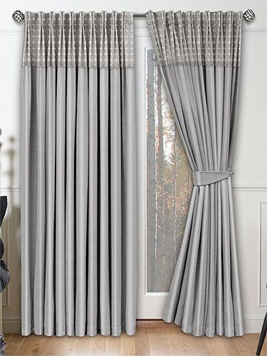 Shimmering Silver Curtains With A Sumptuous Border