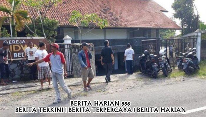 Gereja St Lidwina di Yogyakarta Diserang