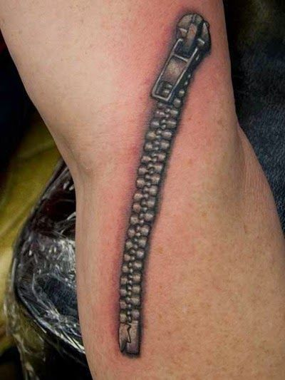 Tattoos - My Ink Rocks!: Zipper tattoo ideas | Totally ...