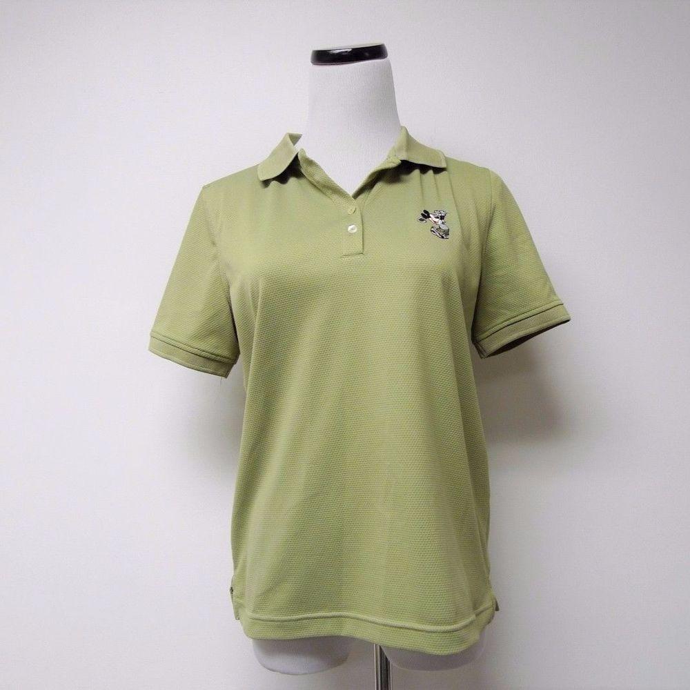 Lt Linkstech Green Mickey Mouse Womens Golf Techno Dry Polo Shirt