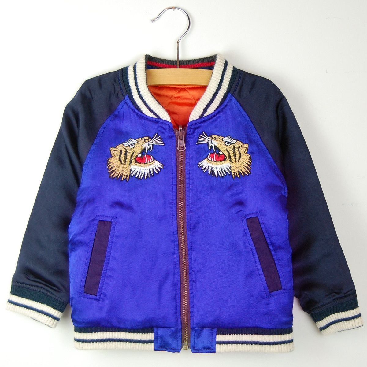 REVERSIBLE SKA-JAN JACKET - BLUE + ORANGE