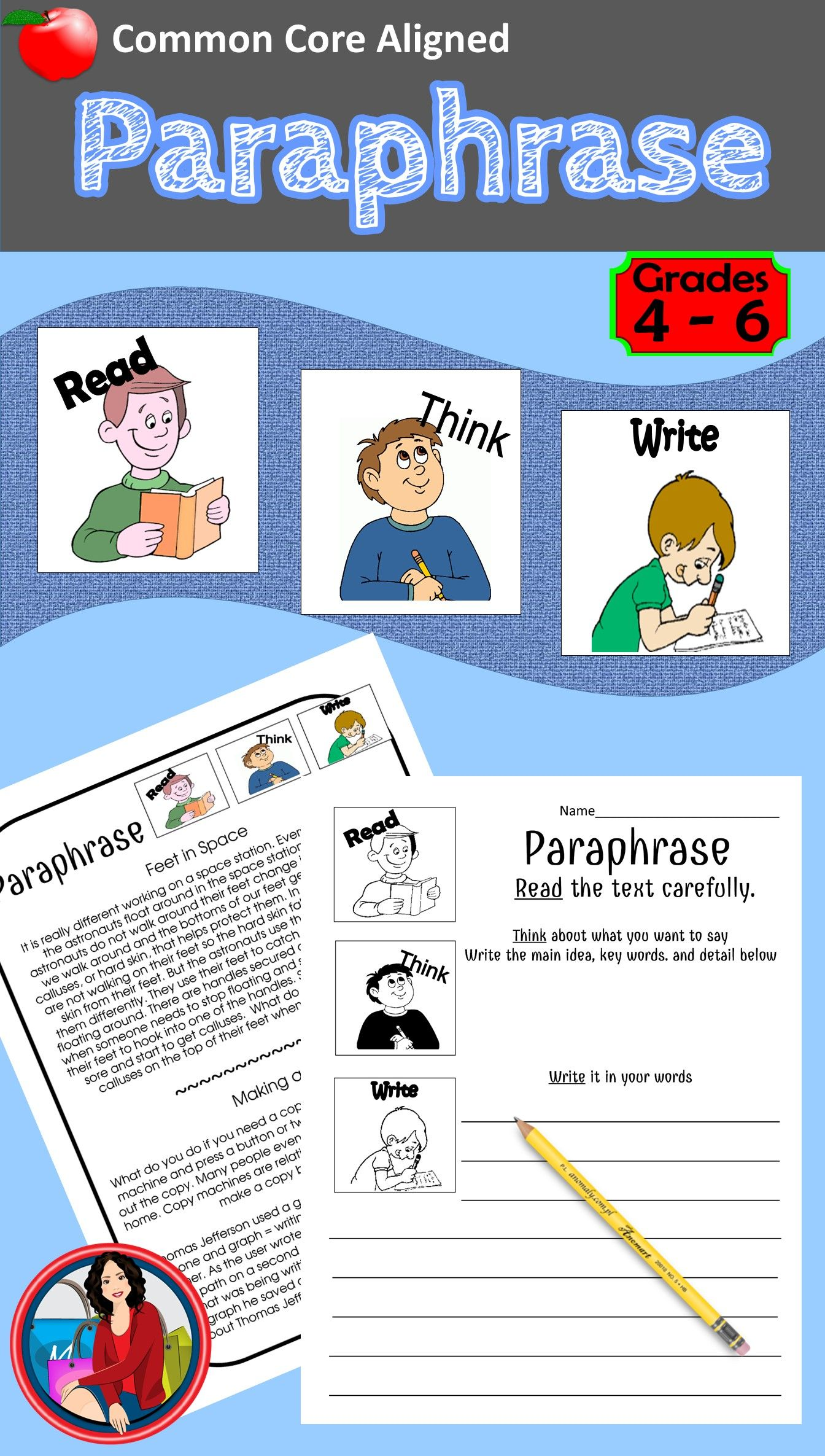 Paraphrase Thi I A Versatile Paraphrasing Activity That Can Be Used Many Way Help Your Student Under Activitie 4th Grade Reading Note Taking And Summarizing