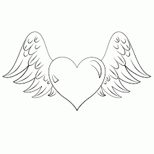 hartje met vleugels zoeken vleugels hart tekenen