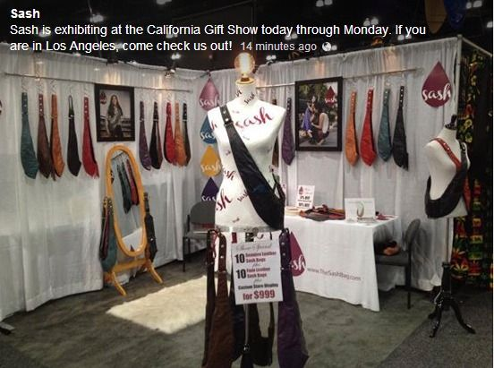 Sash exhibiting at the California Gift Show July 19-22 in Los ...
