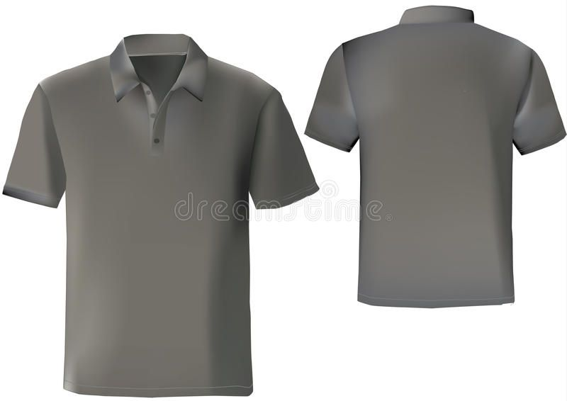 Download Black Polo Shirt Design Template With Front And Back Ad Shirt Polo Black Front Template Ad Kaos Hitam