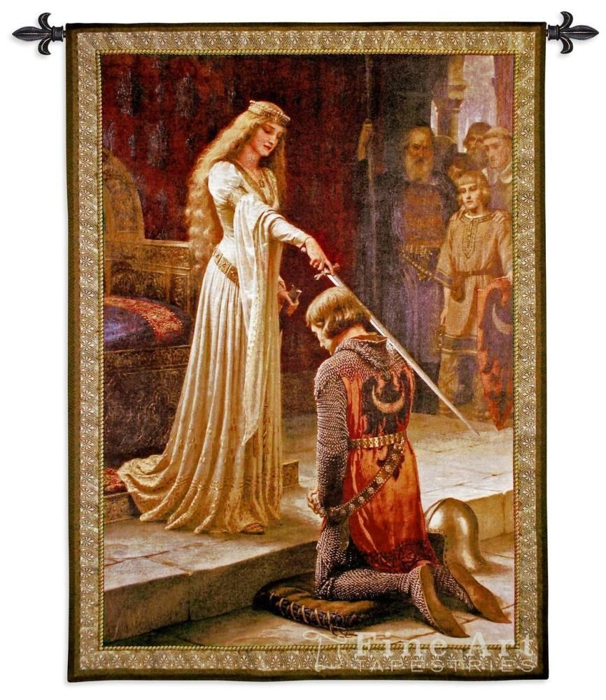 The Accolade Wall Tapestry Is An Old World Style Wall Tapestry Is Based On A Medieval Tapestry Fine Art Tapestries Hanging Wall Art