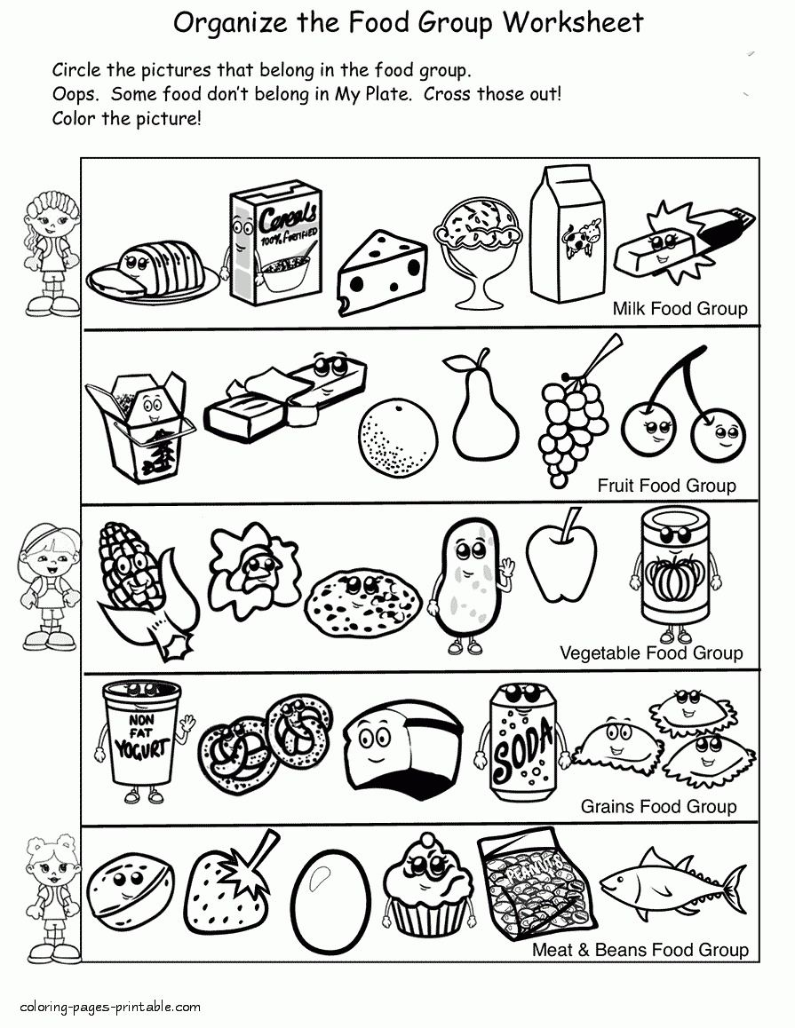 Healthy Food Coloring Pages Healthy Food Coloring Pages 45 Unhealthy 4 Betweenpietyanddesire Davemelillo Com Food Coloring Pages Coloring Pages Group Meals