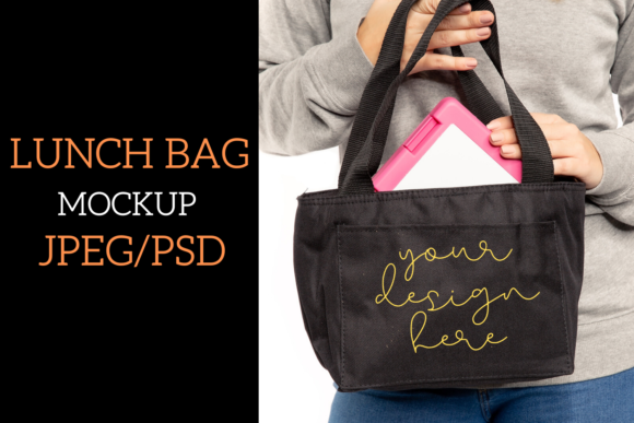 Lunch Bag Mock Up JPEG/PSD1000X1500px (Graphic) by