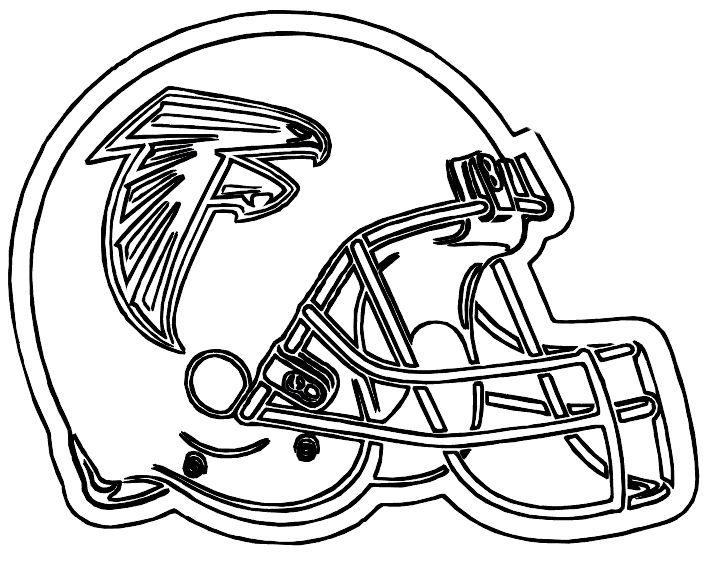 Printable NFL Football Helmet For Games Coloring For Kids