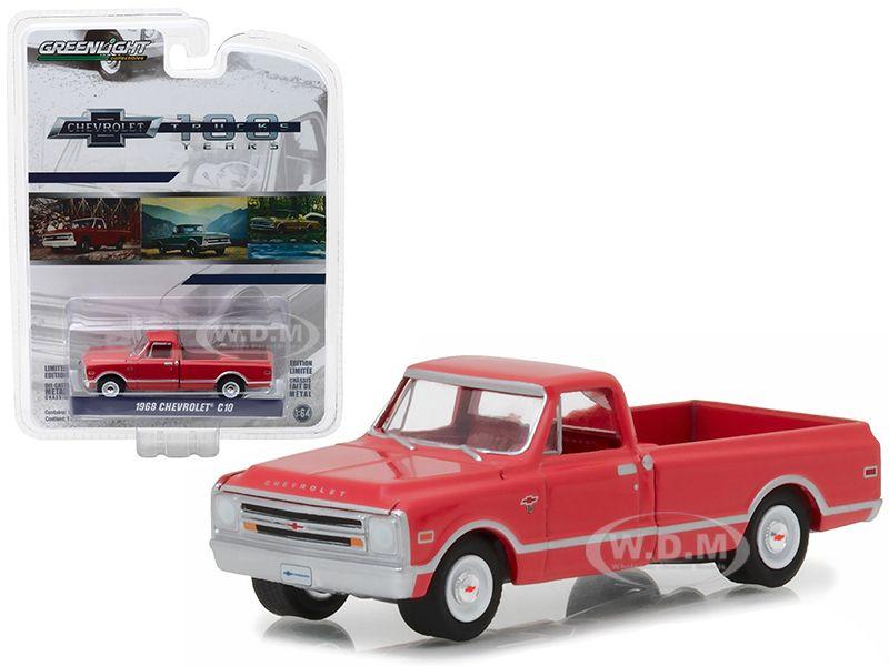 Www Diecastmodelswholesale Com 1968 Chevrolet C 10 Red 100th