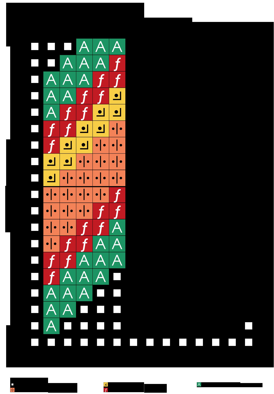 alfabeto multicolor L