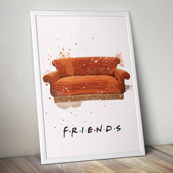 Friends TV Show Inspired Poster Print | Central Perk Couch ...