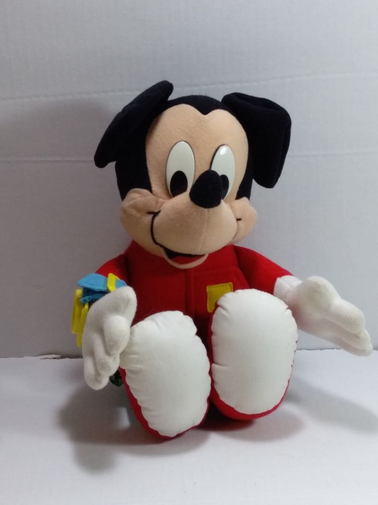 Disney Mickey Mouse Learn To Dress Plush Doll Stuffed Toy #Mattel