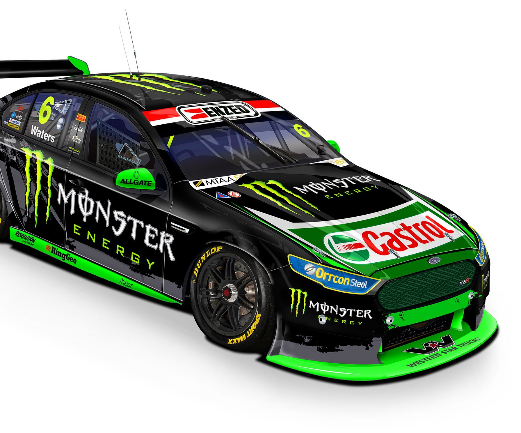 The Bottle O Racing Team And Monster Energy Racing V8 Supercars Super Cars V8 Supercars Australia Touring Car Racing
