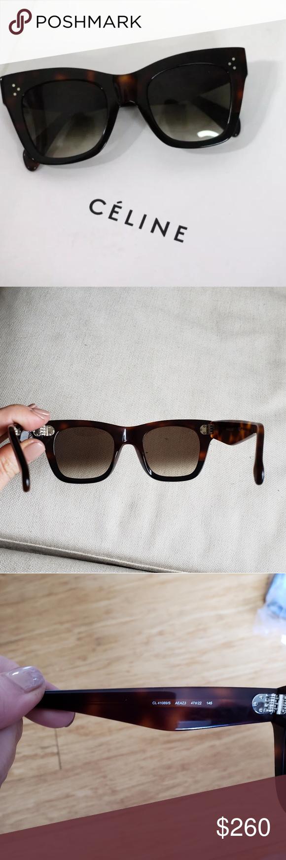503b3d15dab9c Celine Catherine Sunglasses (41089 S)- NEW! Catherine Small Black Havana  Tortoise