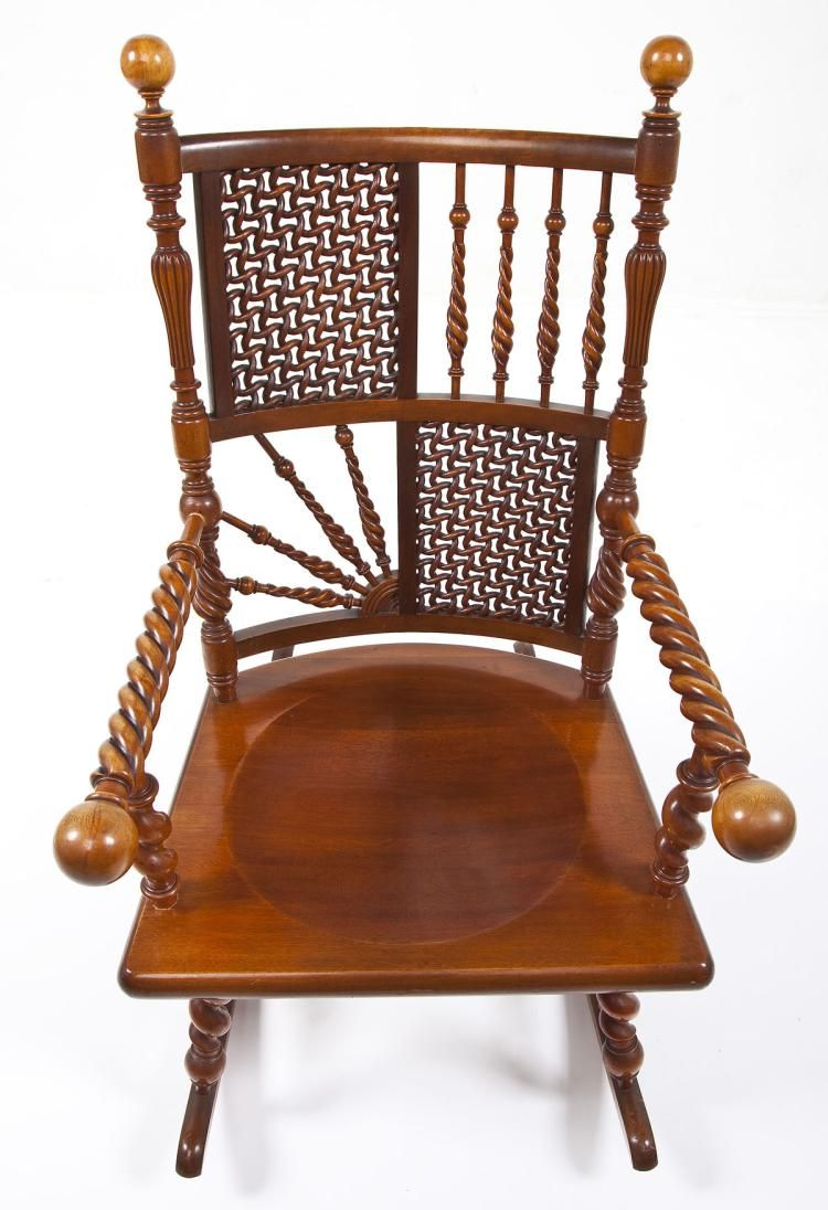 Stupendous Moorish Fretwork Rocking Chair Merklen Brothers Furniture Machost Co Dining Chair Design Ideas Machostcouk