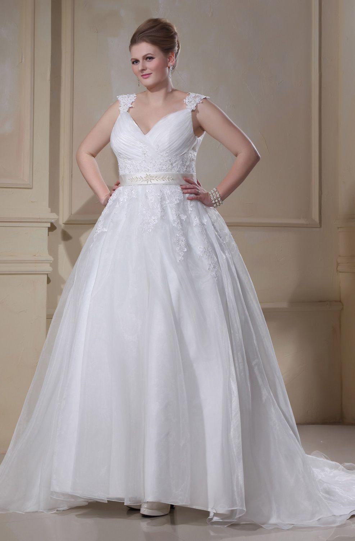189€ nachmäßig für Große Größe Brautkleider | Brautkleider Große ...