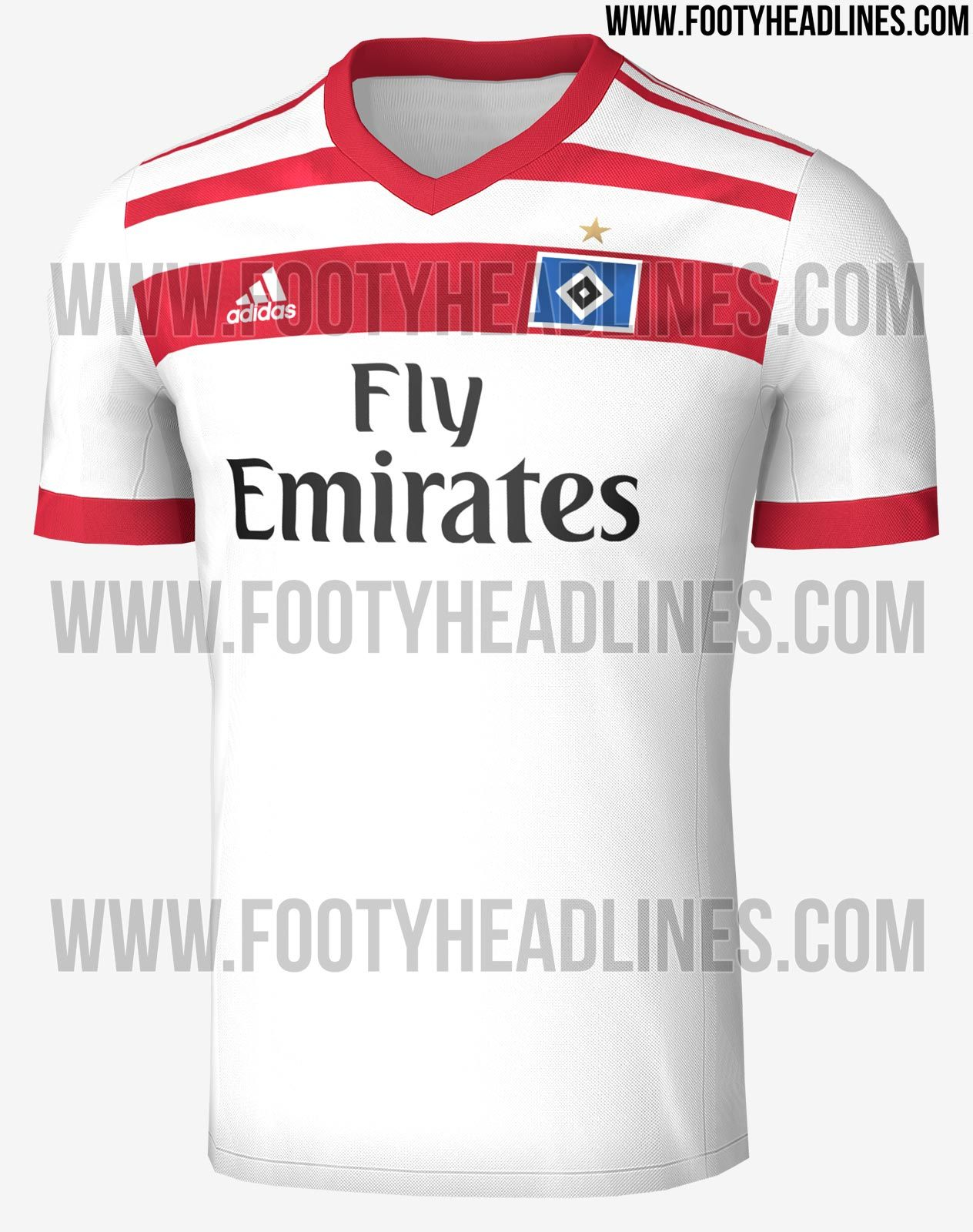 The Hamburg 17-18 home kit introduces a new look for the Bundesliga club,